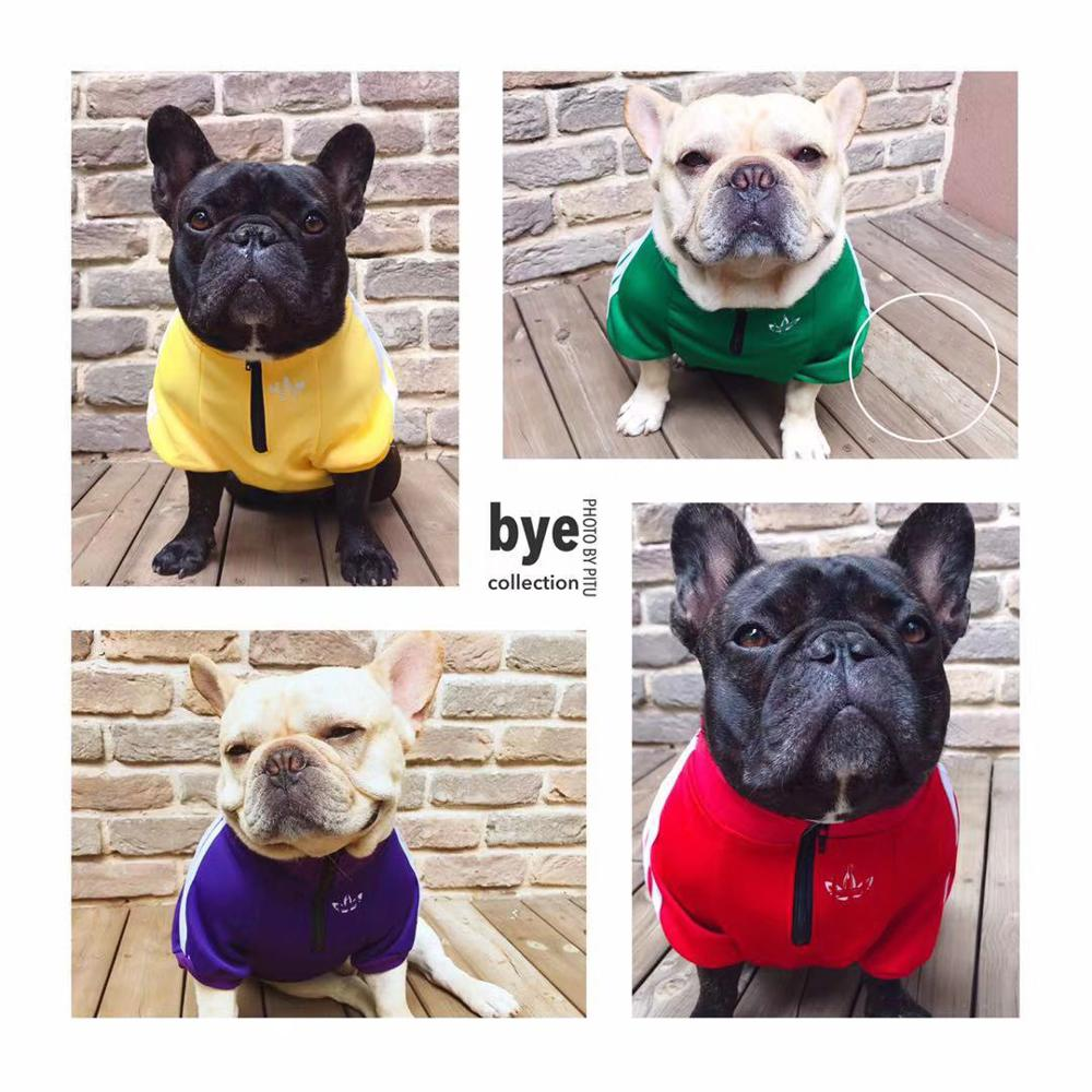 Ropa para perros Bulldog francés suéter para perros deporte Retro Chihuahua gato camisa Ropa para mascotas Ropa Perro cachorro Perro Pugs