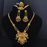 jewelry set for women india jewelry 24k gold color luxury african jewelry set earrings bracelets rings necklace ethiopian jew
