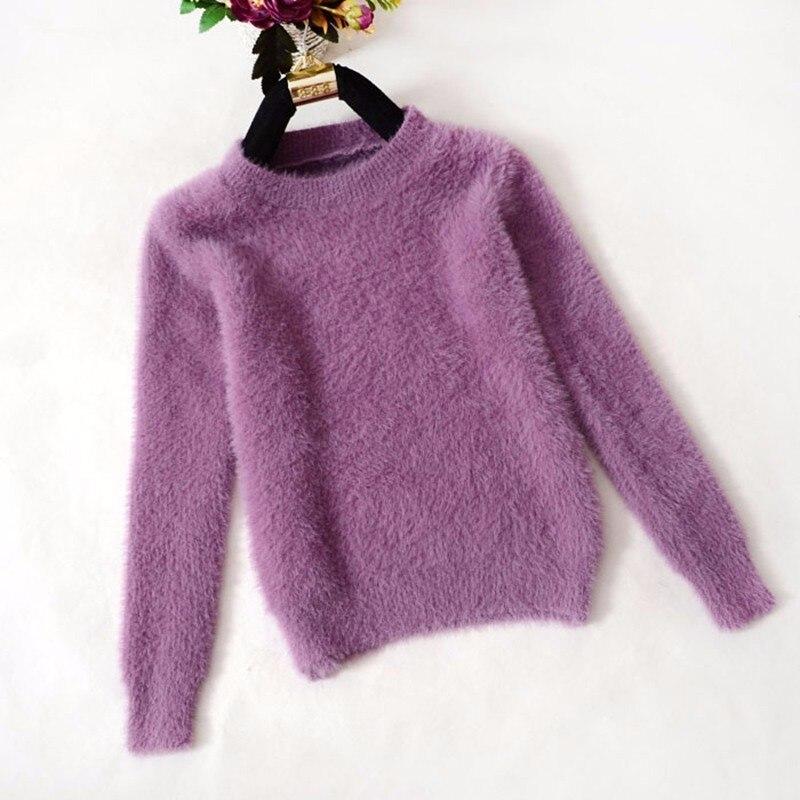 Корейские женские свитера из губчатой ткани, кашемировые свитера, теплые зимние свитера, мохеровая одежда, рождественские топы, 2021