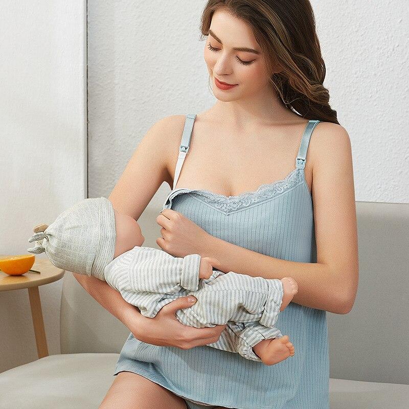 Нижнее белье на бретельках для беременных женщин жилет для кормящих женщин бюстгальтер бесплатно хлопковый топ одежда для грудного вскарм...