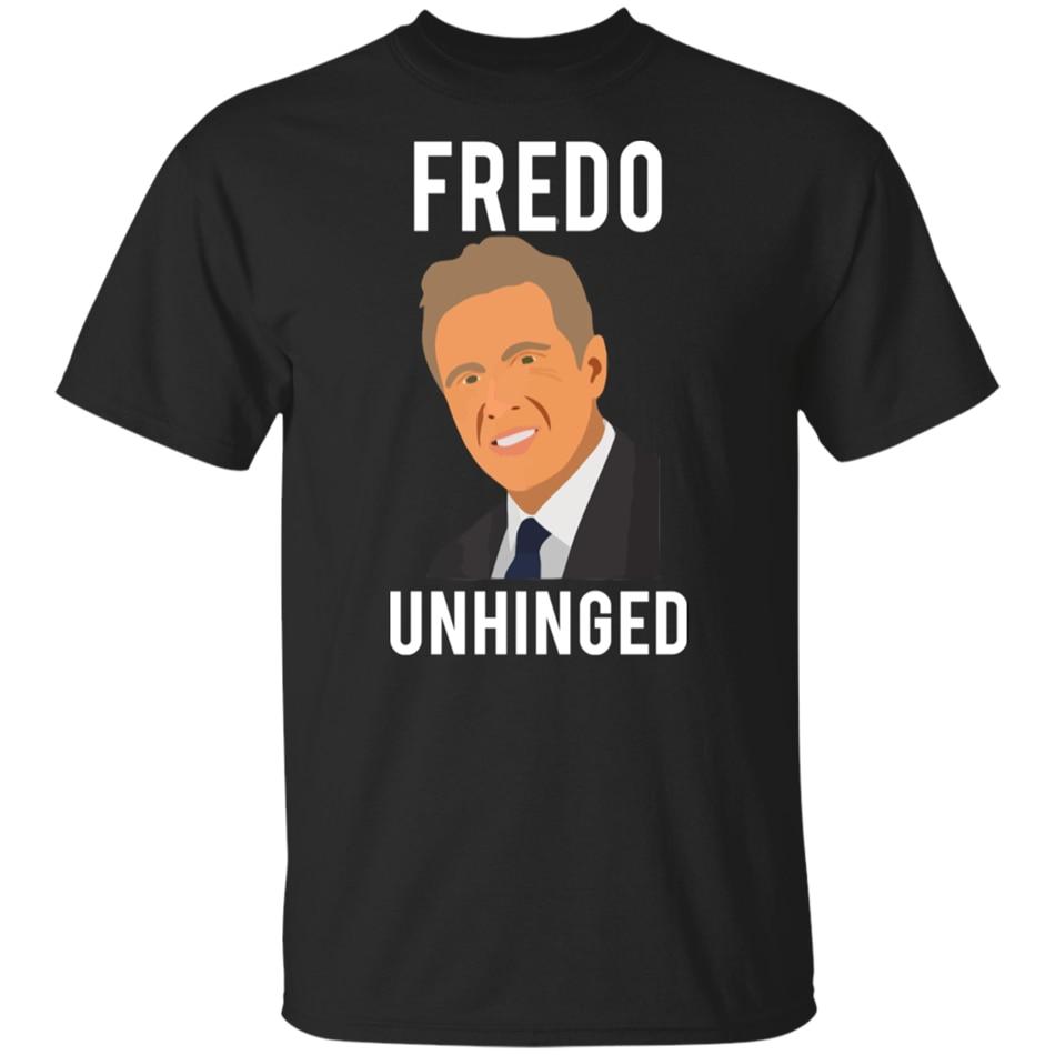 Fredo desquiciado Cuomo política parodia camiseta negra divertido Trump Maga Kag camiseta diseño personalizado gráfico Tees Tee camiseta