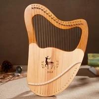 lyre set music harp instrument kit small lyre harp 19 string solid wood wooden string music arpa de lira home decor hx50sq