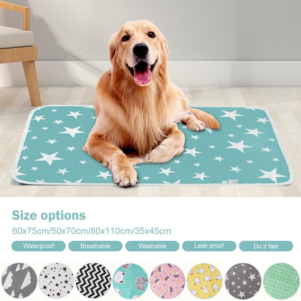 Waterproof Reusable Dog Bed Mats Dog Urine Pad Absorbent Protect Diaper Mat Washable Dog Pet Diaper Mat
