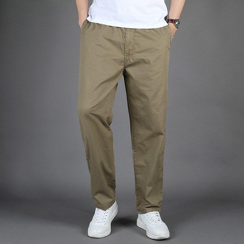 Брюки для мужчин брюки 2021 Новая мода Большой Размеры повседневные Прямые брюки; Однотонная уличная штаны 6Xl брюки-карго фото