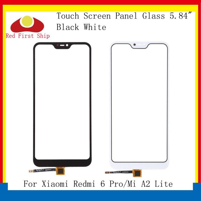 10 قطعة/الوحدة شاشة تعمل باللمس ل Xiao mi الأحمر mi 6 برو محول رقمي يعمل باللمس الاستشعار الجبهة LCD زجاج عدسة ل Xiao mi A2 لايت اللمس