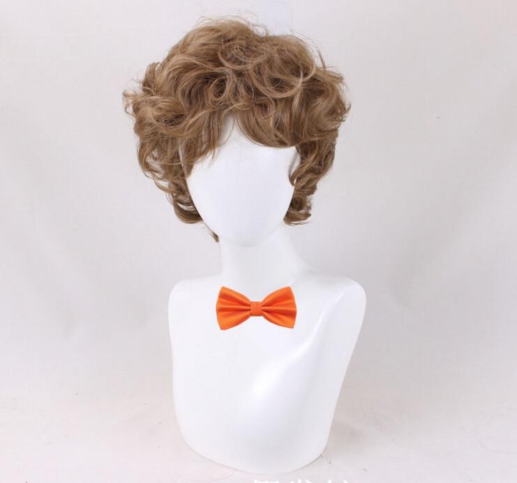 Rocketman Elton John Dodgers Wig Cosplay Curls Wavy Hair Costume Prop Wig for Party
