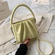 Brand Designer Crossbody Bag for Women 2021 New Soft PU Leather Shoulder Bag Fashion Folds Top-handl