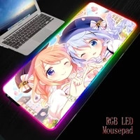 mrgbest gochiusa anime girl mousepad large locking edge gamer gaming mouse pad soft laptop notebook mat dropshipping