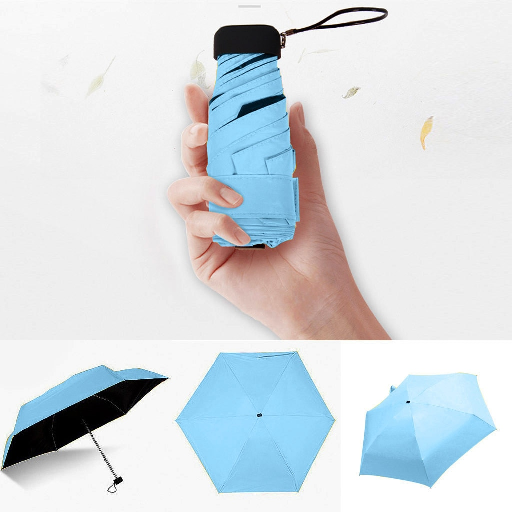 Plano ligero Paraguas Plegable Paraguas de sol Sombrilla Paraguas Sombrilla Guarda Paraguas...