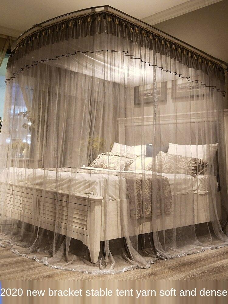 ناموسية قابلة للسحب من النوع U للمنزل 1.5m1.8m 1.2m 2 سرير ستارة أرضية قوس