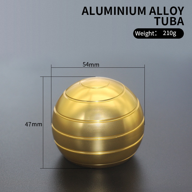 2020 115g/210g Llusion Flowing Desk Ball Decompression Toy Aluminum Alloy Top Metal Spinning  Anti Stress Gift enlarge