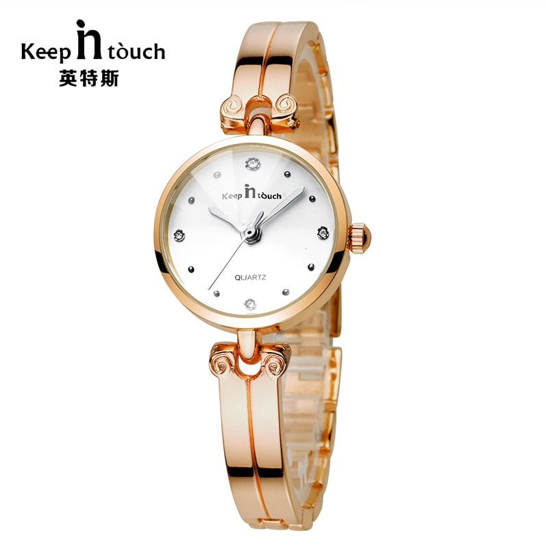 Rose Gold Watch for Women Stainless Steel Exquisite Rhinestone Luxury Casual Quartz Wristwatch Female Watches Zegarek Damski