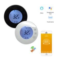 Thermostat au sol rond Tuya WIFI X7H 110V 230V, écran tactile, chauffant Programmable sans fil