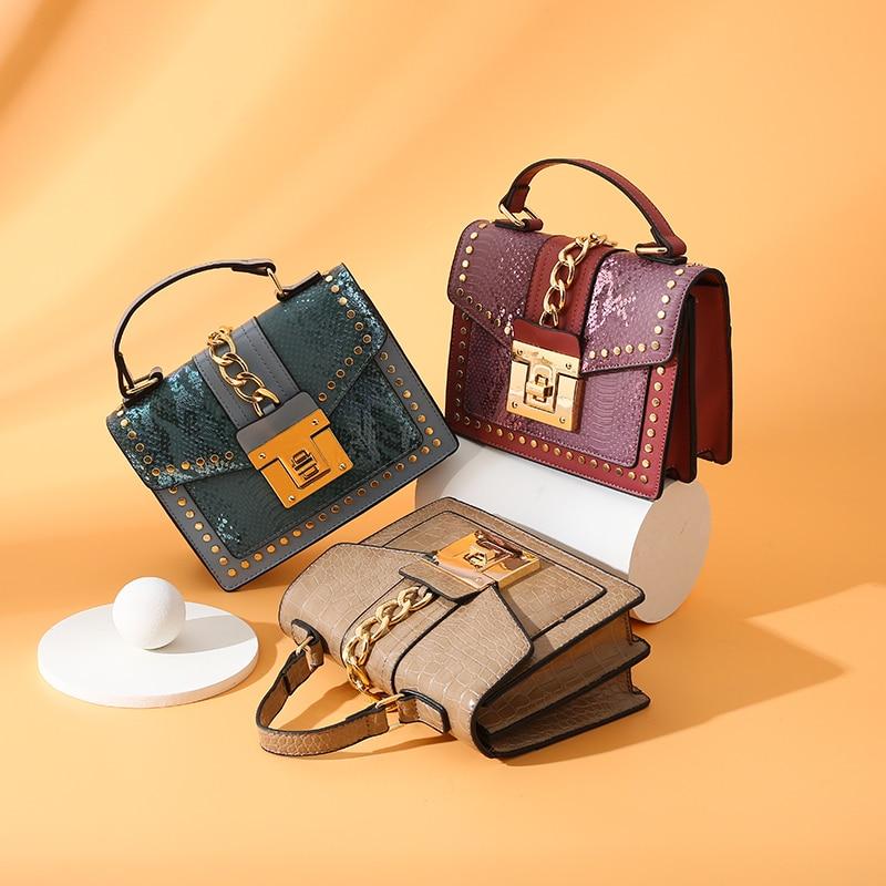Large Crocodile Pattern Designer Crossbody Shoulder Bag High Capacity Lady Luxury PU Leather Totes Bag Chain Clamshell Handbag