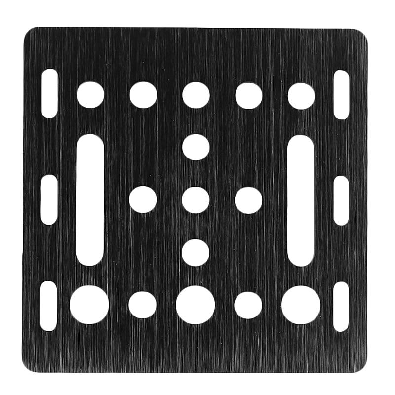 Pieza de impresora 3D, placa de pórtico con ranura en V, 20Mm, chorro de arena negra, 65,5 Mm x 65,5 Mm x m
