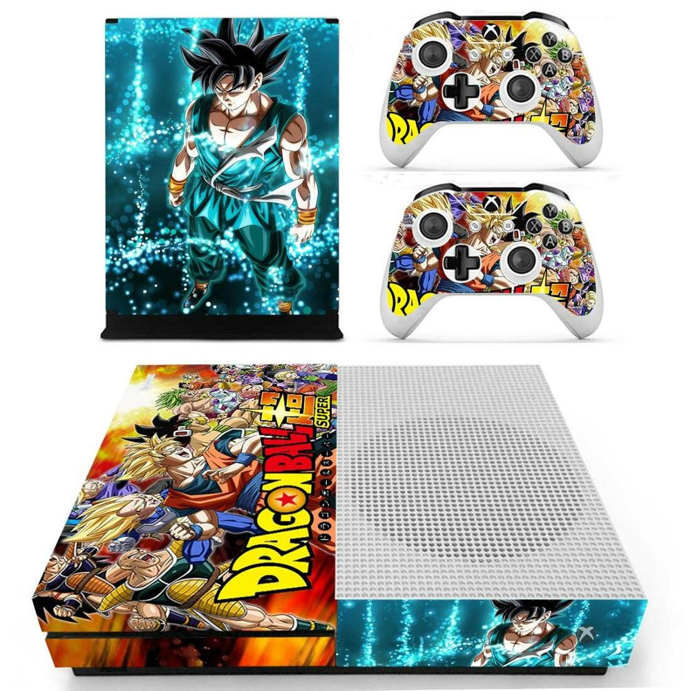 Наклейка Dragon Ball Super Skin для Xbox One S консоли и Kinect и 2 контроллеров для Xbox One Slim Skin sticker Vinyl