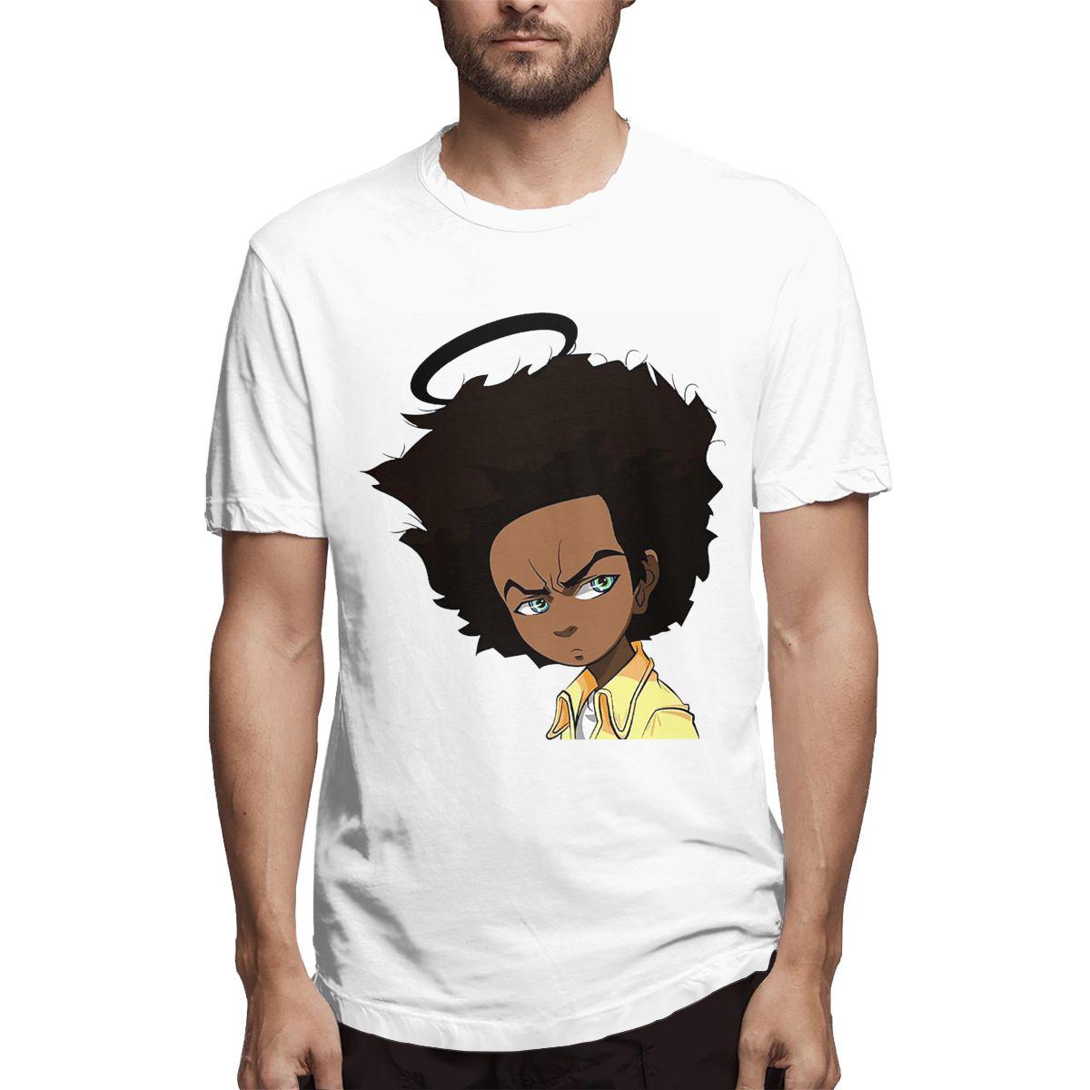 The Boondocks Boondocks Men's Cool Tees Short Sleeve O Neck T-Shirt 100% Cotton Printed Clothes