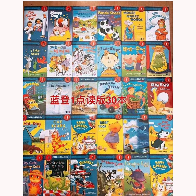 30 Books/set Langdon English Graded Picture Book Level One Reading Storybook books Children English Story Book Early Education