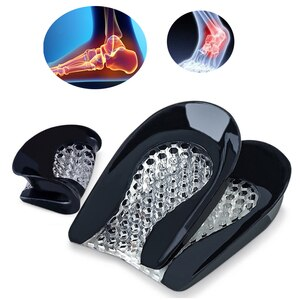 1Pair Breathable Shoe Insoles for Flatfoot Shoes Insert Silicone Forefoot Pad Shoes Insoles Cushions Anti Shock Insoles Orthosis
