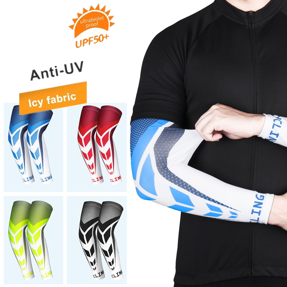 1Pair Arm Sleeves Bicycle Sleeves UV Protection Running Cycling Sleeves Sunscreen Arm Warmer Sun Specialized Mtb Arm Cover Cuff