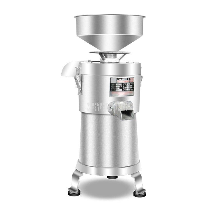 2800r/min escoria comercial separadora de leche de soja máquina de fabricación de Tofu refinadora de molino de soja para el hogar separación de lechada 750W