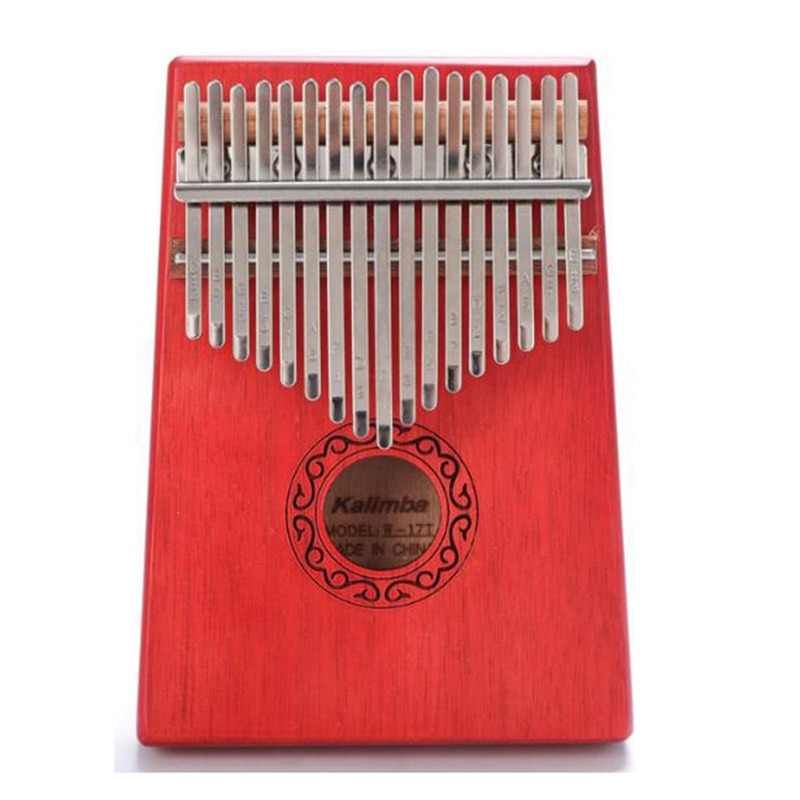 17 Key Kalimba Single Board Mahogany Thumb Piano Mbira Mini Keyboard Instrument for Music Lover Beginners Children enlarge