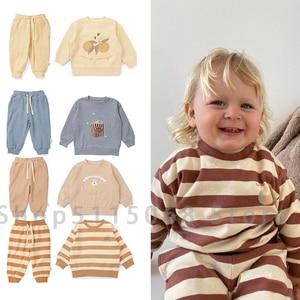 konges s kids clothes girls Sweatshirt suit 2021 winter baby boy clothes Fashion Cotton top Danish designer Children sweatshirt