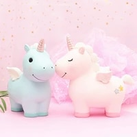 kids piggy bank cute unicorn money boxes home decoration christmas gifts ceramic animal coin boxes figurines ornaments wholesale