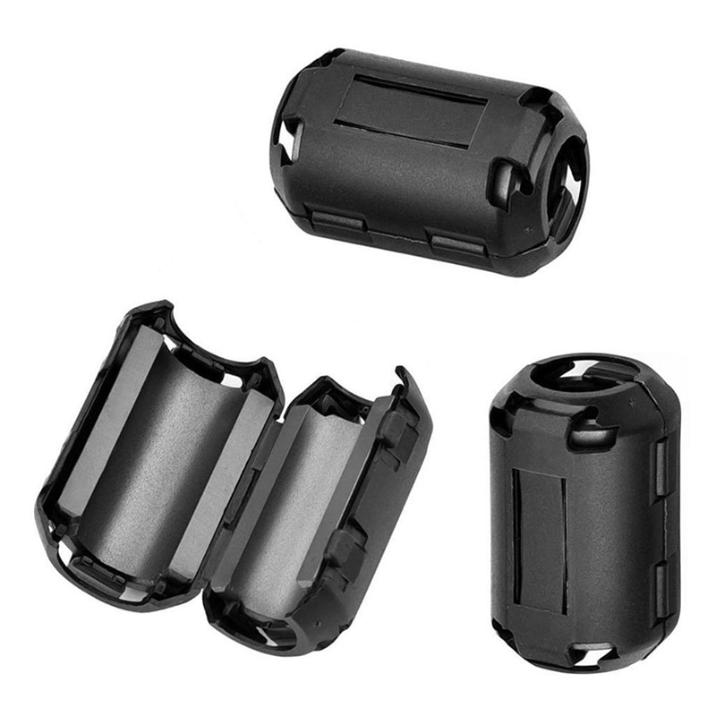 Hdmi vga dvi cabo de áudio bobina magnética interferência blindagem filtro magnético desgausing anel magnético 3.5/5/7/9/13mm cabo clipe
