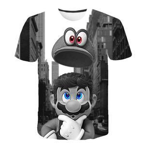 Camiseta con estampado Harajuku 3D de Super Mario para hombre y mujer Camiseta con estampado 3D de Super Mario Chic  ropa urbana