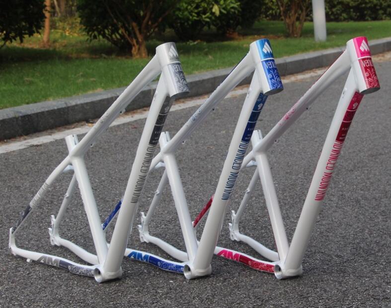 Cuadro de alambre para bicicleta todoterreno, de aleación de aluminio, macho y hembra, Cuadro de bicicleta de montaña AM Venus, 26X15/16 pulgadas