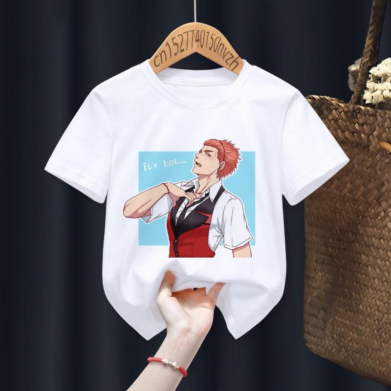 Kakegurui Funny Boy Girl T-shirts Kid Children Anime Gift Present Little Baby Harajuku Clothes,Drop