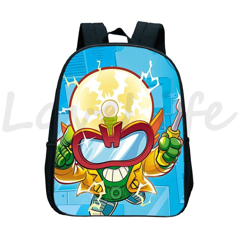 Super zings Backpacks 3D Cartoon things School Backpack Mochila Children Boys Girls Waterproof kindergarten Bags