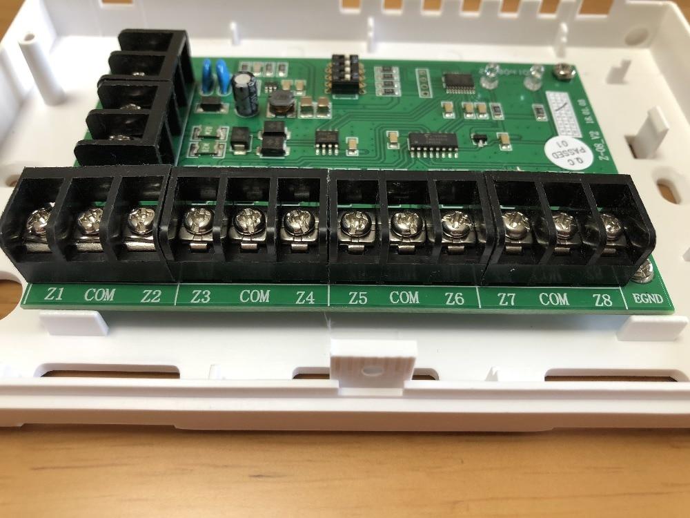 Foco FC-7688E alarme de segurança com fio 8 expansor zona com fio 8 zonas de ônibus extensor compatível com FC-7688 sistema de alarme