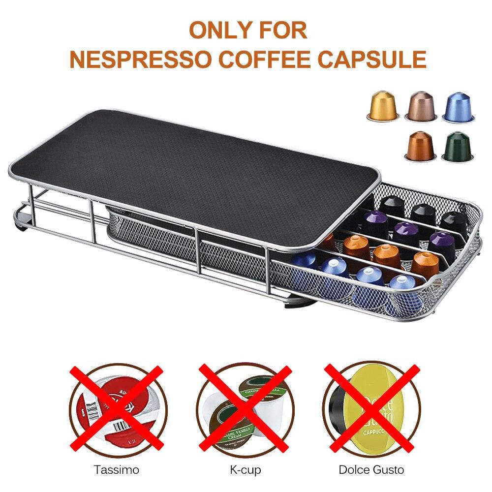 Soporte para cápsulas de café de 40 cápsulas, soporte de torre de dispensación para cápsulas de Nespresso, soporte de almacenamiento de café