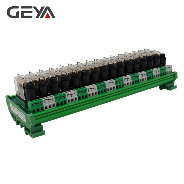 GEYA NGG2R 16 Channel Omron Relay Module with Fuse Protection 12VDC 24VDC PLC 1NO1NC