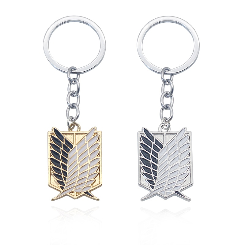 aliexpress.com - Attack On Titan Keychain Wings of Liberty Freedom Scouting Legion Eren Keyring Key Holder Chain Ring New Anime Jewelry Wholesale