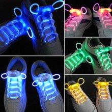 LED Sport chaussures lacets Flash lumière lueur bâton sangle lacets Disco Party Club 4 couleurs 2018 vente chaude