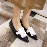 flat heel shoes women pointed toe patent leather lemon yellow purple lady fashion flats candy color flat sole large size 42 43