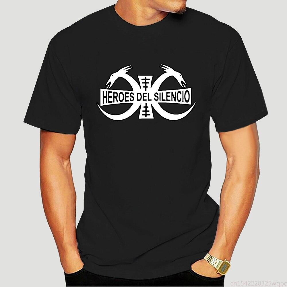 Camiseta negra de héroes DEL SILENCIO para hombre Logotipo de banda de...