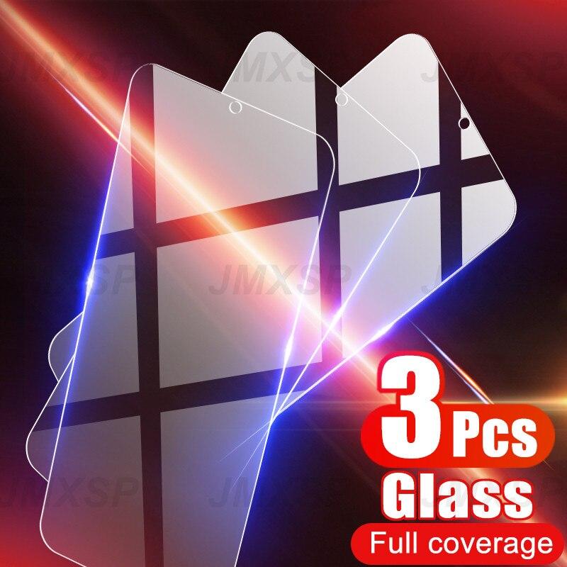 3 قطعة الزجاج المقسى ل شاومي بوكو X3 NFC M3 F1 F2 Mi A3 A2 لايت A1 الزجاج واقية ل Mi ماكس 2 3 مزيج 2 2S 3 اللعب CC9E الزجاج