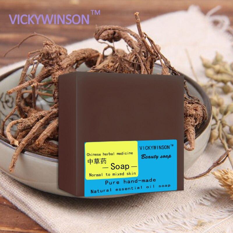 Jabón a mano VICKYWINSON, medicina herbal china, 100g, antiinflamatorio, elimina puntos negros, alergia, jabones naturales puros