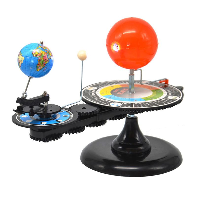 Solar System 3 Globes Sun Earth Moon Orbital Planetarium Model Astronomy Demo Student Kids Education Teaching Tool Toys