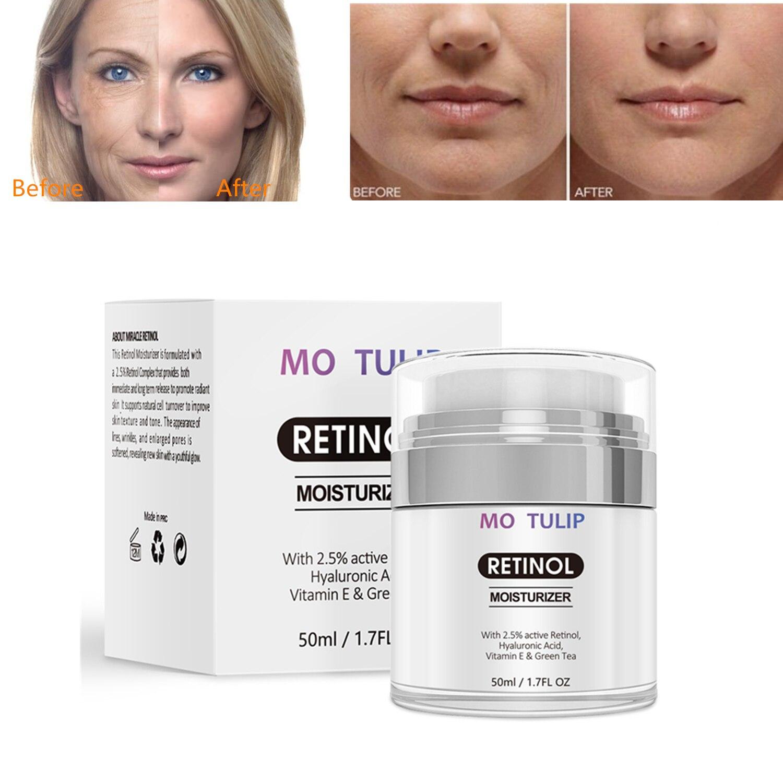 Crema hidratante Retinol 2.5% antienvejecimiento y reduce las arrugas y las líneas finas crema Retinol de día y noche Envío Directo