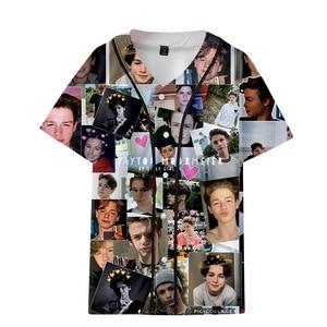 Payton Moormeier PYTN 3D Print Oversized T Shirt Women/Men Single Breasted T-Shirt Summer Short Sleeve T Shirt Baseball Clothes