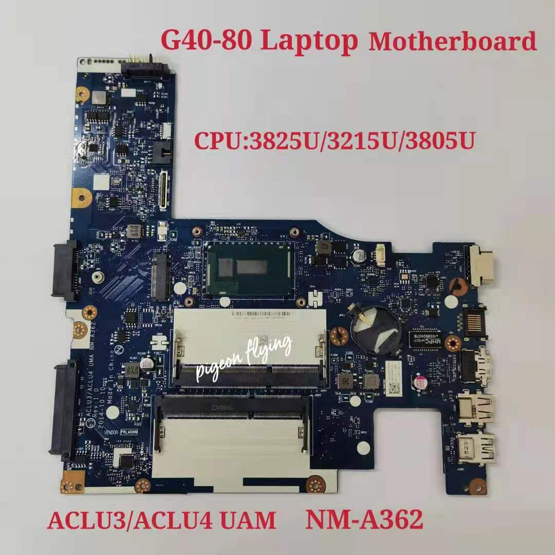 تنطبق على G40-80 دفتر اللوحة 3825U 3215U 3805U عدد NM-A362 FRU 5B20K07039 5B20K07048 5B20K84627