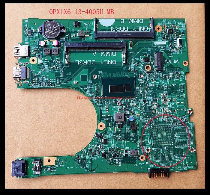 Para DELL Inspiron 3458 3558 laptop IRIS 14216-1 1XVKN 0PX1X6 i3-4005U o 0MHDT2 i5-5200u placa base gráfica integrada