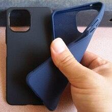 Противоскользящий матовый Силиконовый чехол для Xiaomi Mi 11 Lite, мягкий ТПУ, твил, твил, полоса, задняя крышка