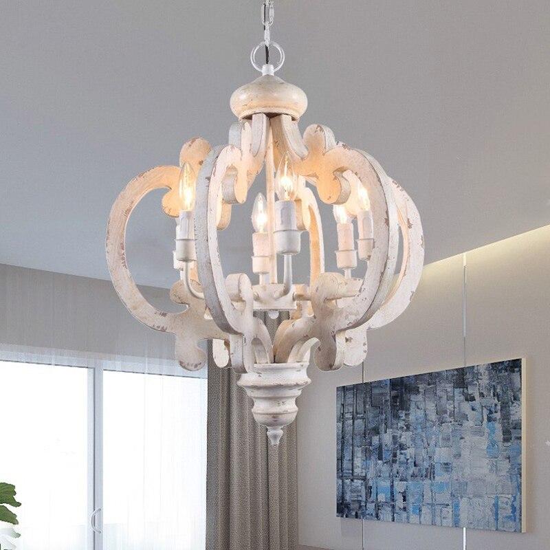 ثريا خشبية عتيقة الطراز ، مصباح سقف مزخرف ، إضاءة داخلية ، إضاءة سقف زخرفية ، مثالية للدور العلوي أو المطبخ أو غرفة المعيشة.