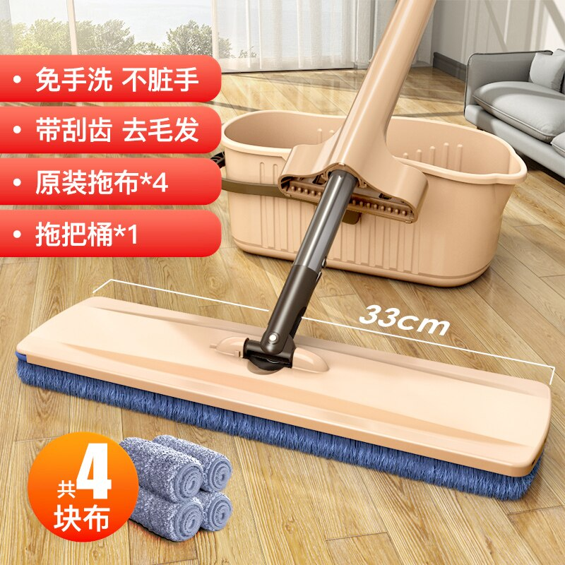 Reusable Cloth Mop with Bucket Cleaner Floor Easy Wring Rectangle Ultraclean Mop Kitchen Fregona Household Cleaning Tools DF50TB enlarge